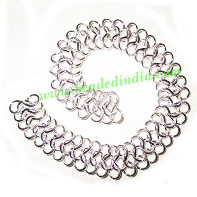 Silver Plated Metal Chain, size: 1x16mm, approx 8.8 meters i - Silver Plated Metal Chain, size: 1x16mm, approx 8.8 meters in a Kg.