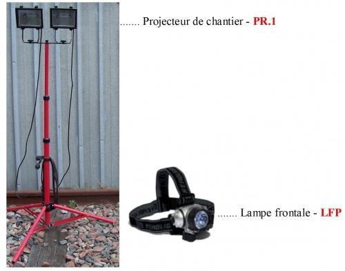 Projecteurs de chantiers - Lampe Frontale