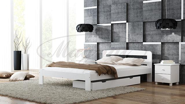 Łóżko drewniane  z litej sosny - Sara