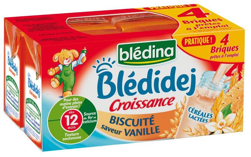 Blédidej biscuité saveur vanille 12 mois 4x250ml - BLEDINA - Blédidej biscuité saveur vanille 12 mois 4x250ml - BLEDINA