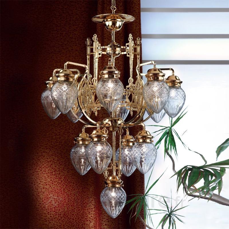 Lustre brillant BUDAPEST 13 lumières - Lustres classiques,antiques