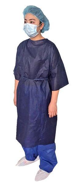 Patient robe -  Matériel: SMS / PP non-tissé Couleur: Bleu / vert Poids: 30gsm-40gsm Taille: M