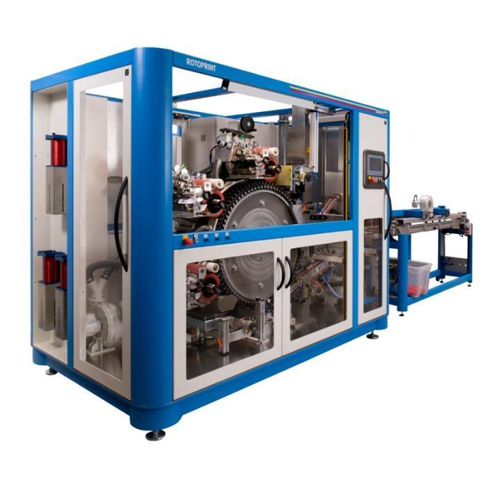 ROTOPRINT Pad Printing Machine - Rotary Pad Printing Machine for closure caps printing.