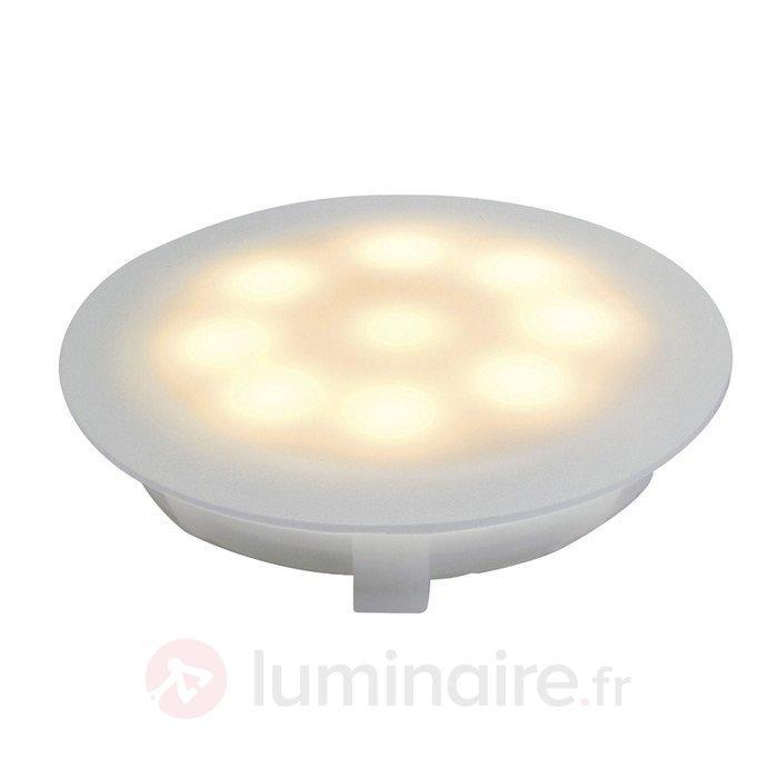 Luminaire LED à encastrer 1x1 W blanc chaud - Spots encastrés LED