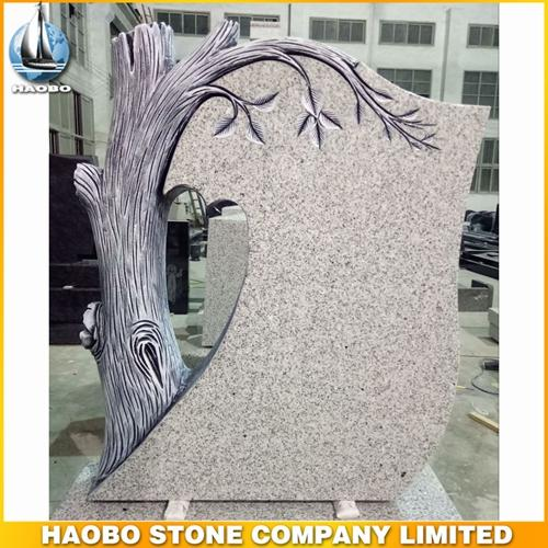 Carved Tree G603 Granite Tombstone From Factory Direct Sales