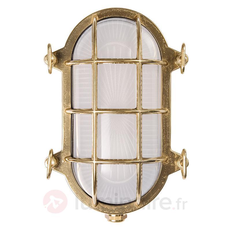 Lampe de bateau ovale Hook - Appliques d'extérieur cuivre/laiton