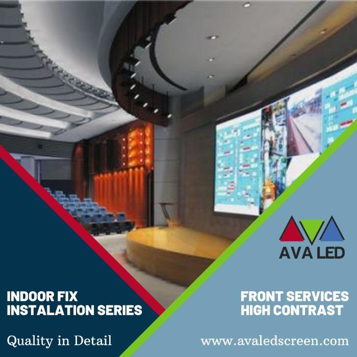 Display Led para Salas de Conferência - Tela LED gigante para 8K - 4K - Full HD interno