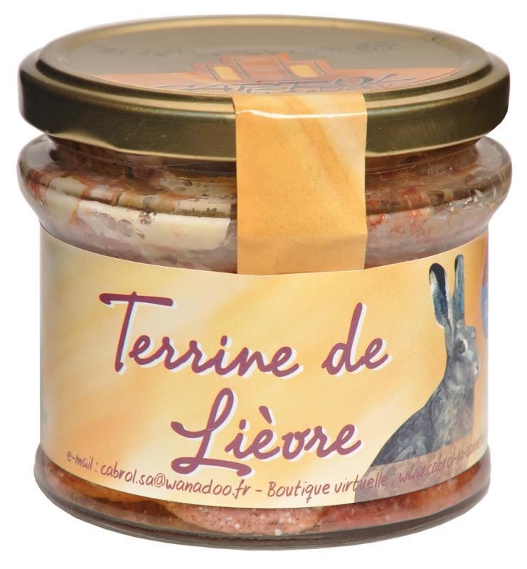 Terrine de Lièvre (bocal en verre) - Epicerie salée