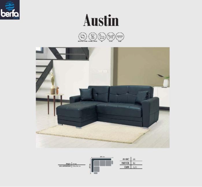 Hjørne Austin - Hjørne sofa sæt, Hjørne Sovesofa, Sovesofaer