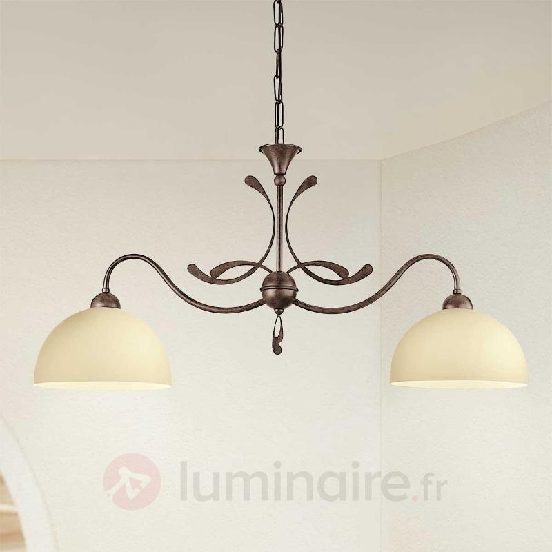 Suspension rustique Lorenzo à 2 lampes - Suspensions rustiques