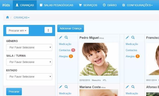 iKids Gestão Pré-Escolar - Gestão de infantários, creches, ATL's e pré-escolar