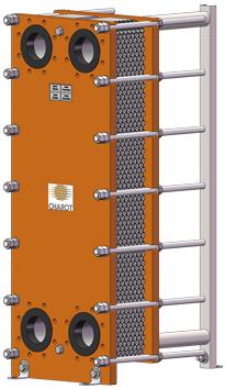 Echangeur de découplage  - pour P.A.C. eau-eau série SOLO H - G ou pour sous-station série SOLO H4