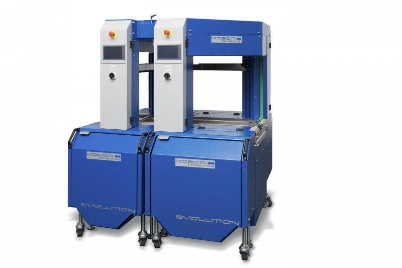 Evolution SoniXs TAI-6 Pro - Máquina de flejado en cruz totalmente automática de alta gama
