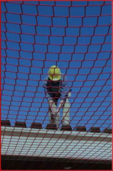 Filet anti chute maille 100 mm classe A2 - Filetantichute7.5x7.