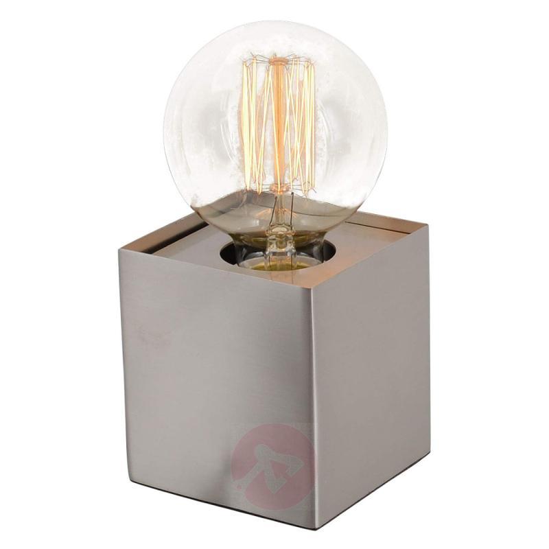 Quadro - minimalist table lamp, bare steel - indoor-lighting