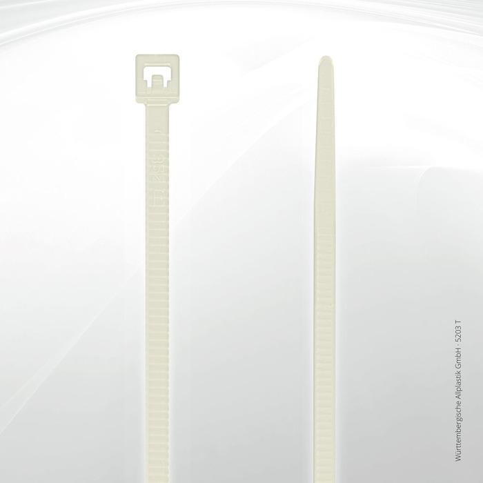 Heat resistant cable ties Allplastik-Kabelbinder® - 5203 T (natural)