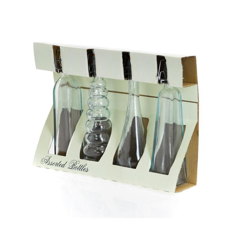 Lot de 4 Mini bouteilles assorties 120 ml avec capsules mécaniques