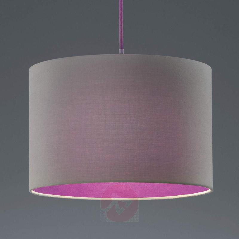 Naila hanging light, grey-violet - Pendant Lighting