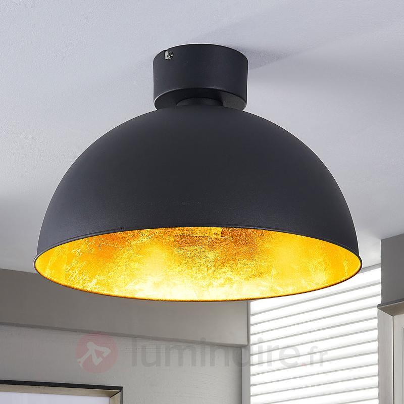 Joli plafonnier LED en noir et doré - Plafonniers LED