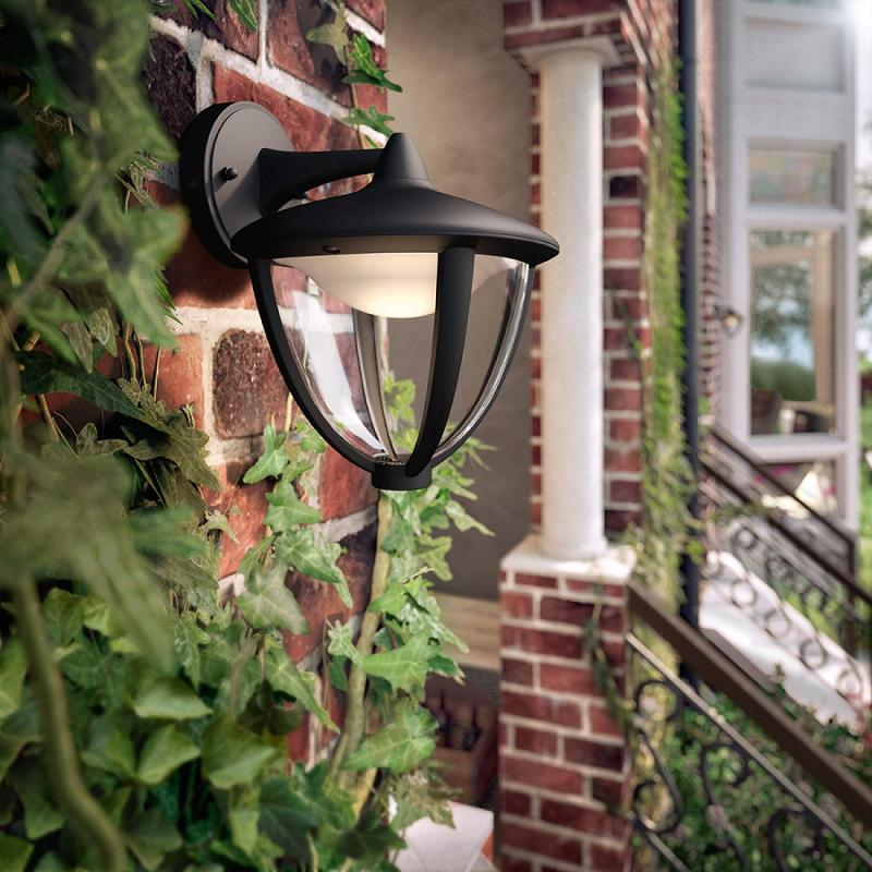 Robin LED outdoor wall light in black - outdoor-led-lights