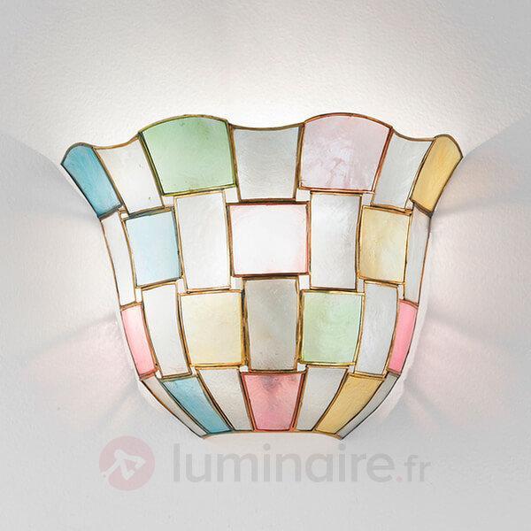 Applique AMELIA nacre décoré - Appliques style Tiffany