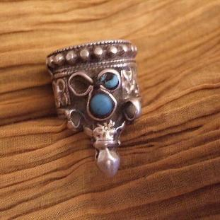 Bagues - Argent, turquoises, Afghanisthan