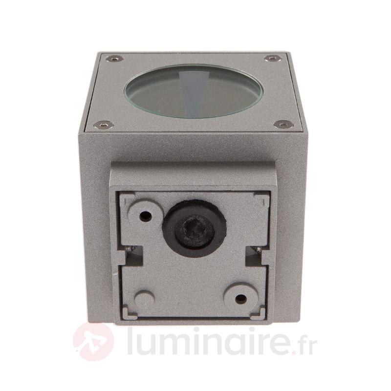 Applique d'extérieur LED Jarno argentée cubique - Appliques d'extérieur LED