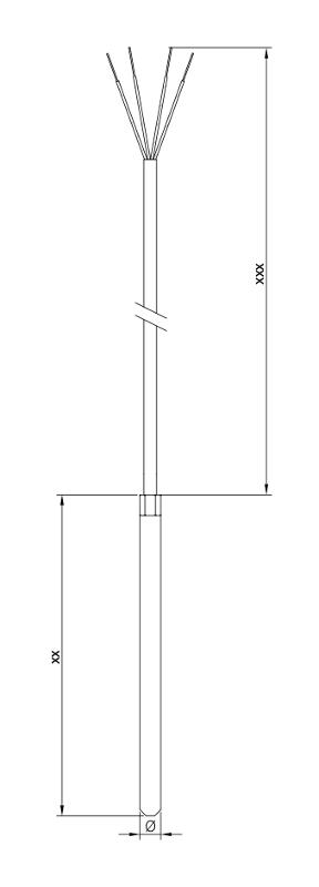 Sheathing tube | Teflon | Ni120 - Sheating tube resistance thermometer