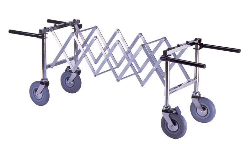 Chariot extensible verrouillable pour cercueil