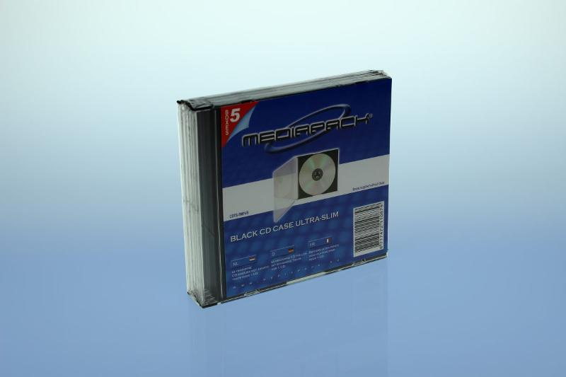 CD Slimcase 5er Pack - MPI - schwarz - Retailverpackungen & Zubehör