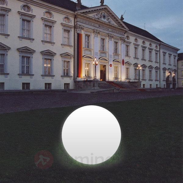 Boule lumineuse Snowball blanche pied en alu - Lampes décoratives d'extérieur