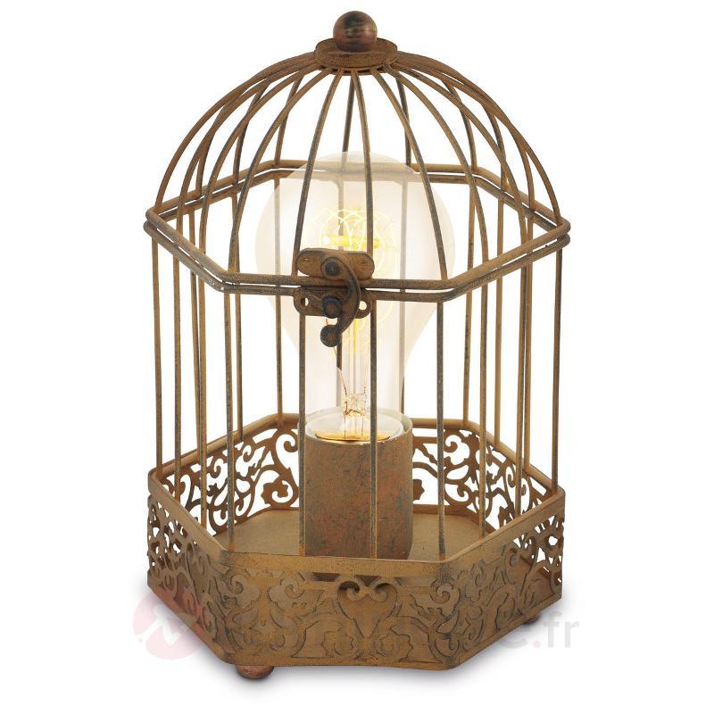 Lampe à poser cage Christin - Lampes à poser rustiques