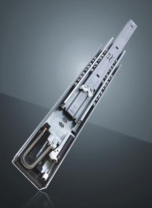 Full extension ITS 038 AIR MOTION Soft - Ball bearing slide with precision smooth sliding and soft-close mechanism