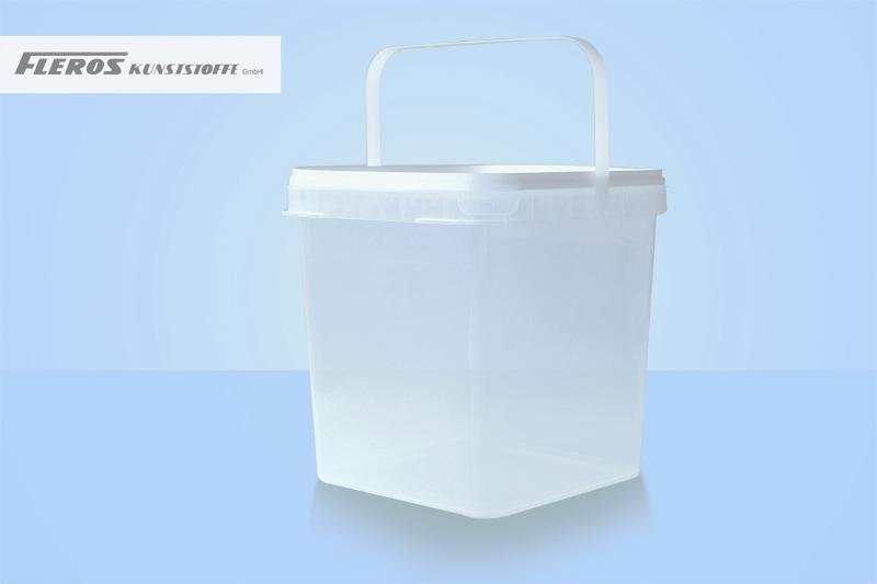 Square shaped buckets - FK-Q 5.900 bucket, square-shaped, PP