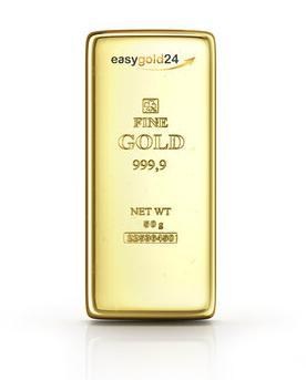 50 g Goldbarren kaufen - 50 g Feingoldbarren 999,9/1000 mit LBMA Zertifikat und einmaliger Seriennummer