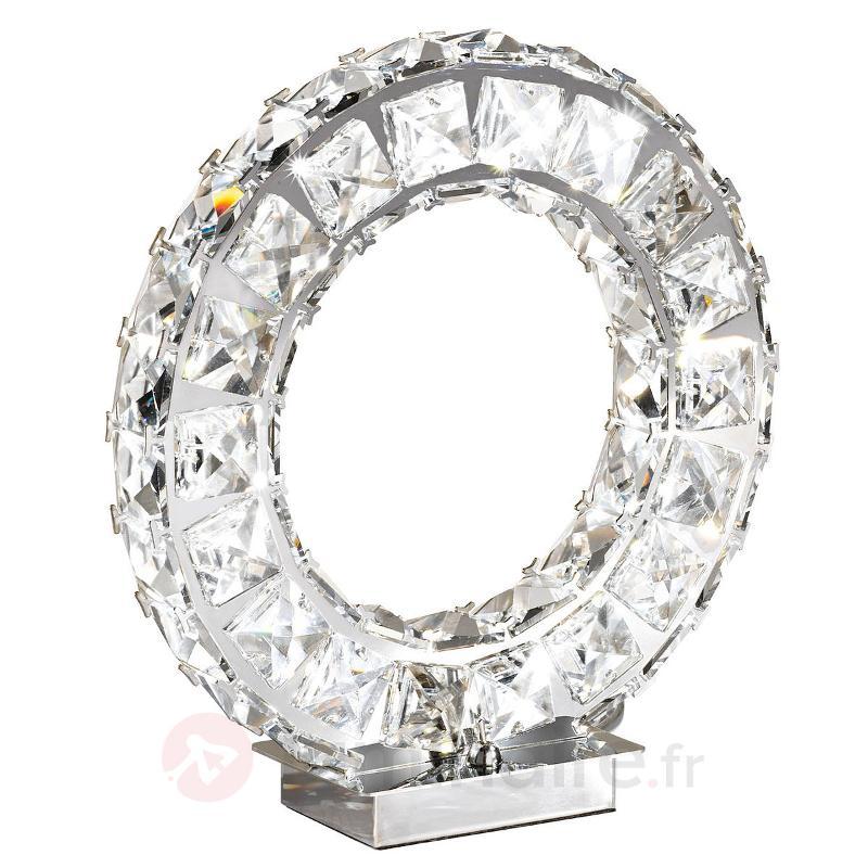 Élégante lampe à poser LED Toneria - Lampes à poser en cristal