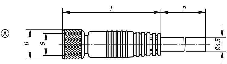 Connecteur à bornes à vis - Détecteur de proximité et connecteur