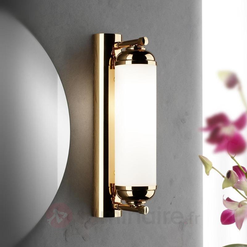Applique fascinante à 1 lampe Elida - Appliques en laiton/dorées