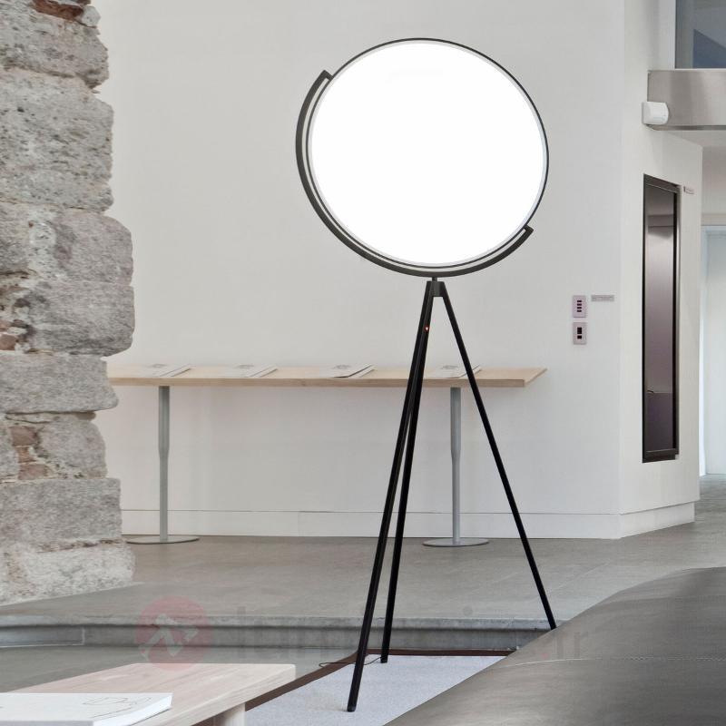 Lampadaire de designer Superloon noir avec des LED - Lampadaires design