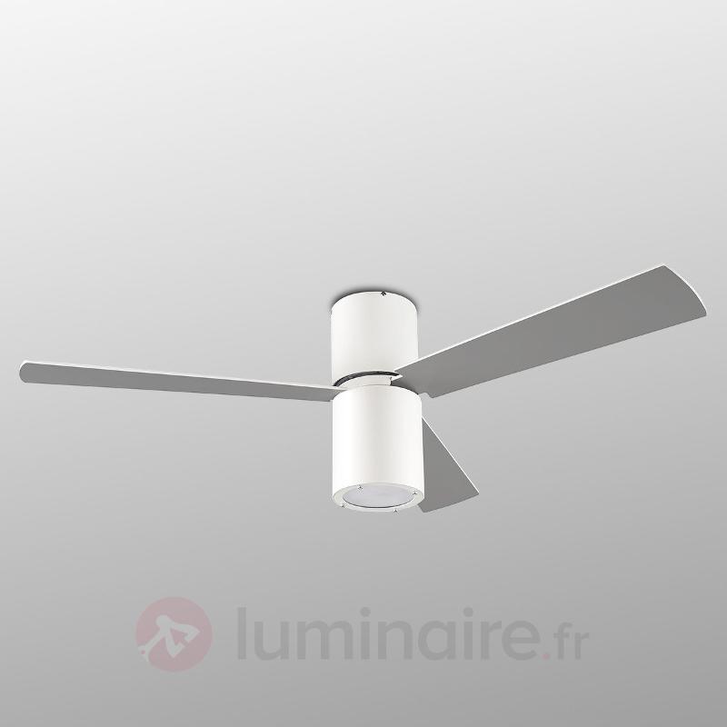 Ventil. de plafond Formentera av. éclairage, blanc - Ventilateurs de plafond modernes