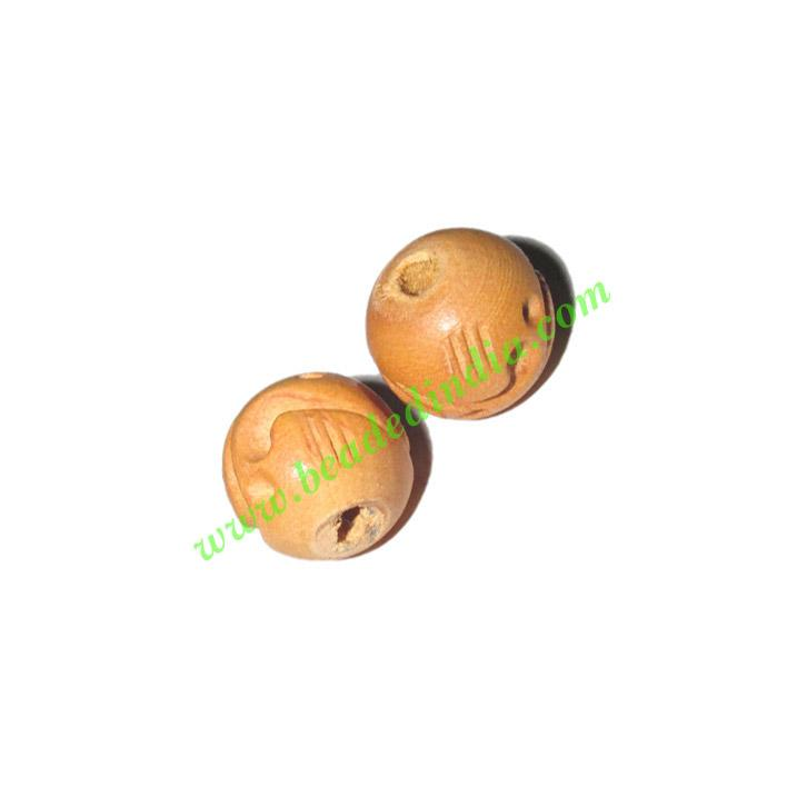 Natural Color Wooden Beads, size 14mm, weight approx 1.01 gr - Natural Color Wooden Beads, size 14mm, weight approx 1.01 grams