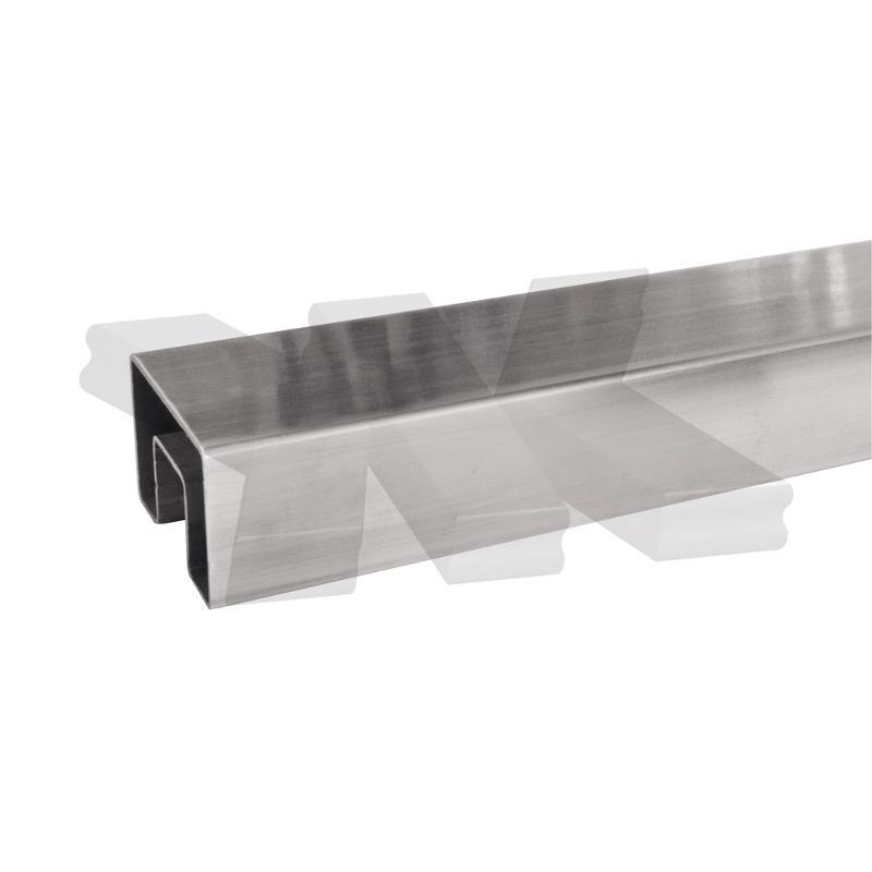 Glass frame tube 60x40 mm, length: 3000 mm - Glass frame tubes stainless steel