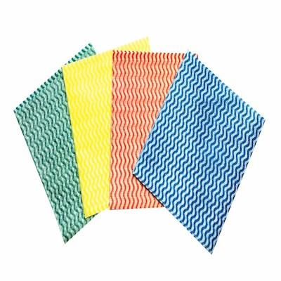 Non woven cleaning clothes  - 100% Viscose strong water absorbance, available in different colours and sizes