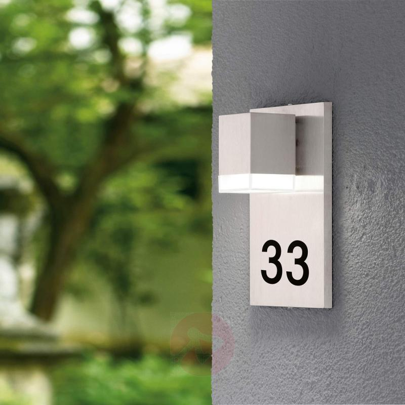 Pardela 1 LED House Number Light - stainless-steel-outdoor-wall-lights
