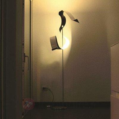 Lampadaire LED Curve à la feuille d'argent - Lampadaires LED