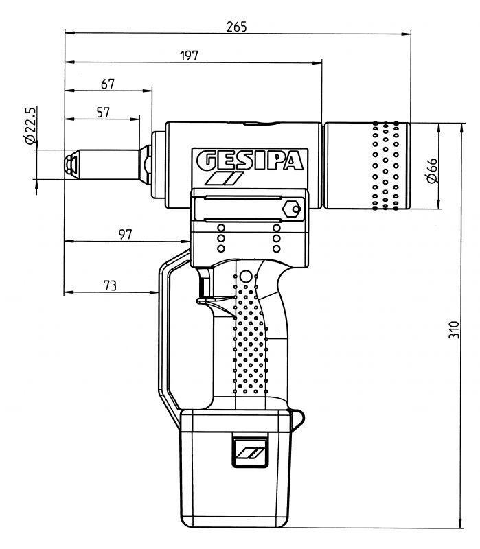 PowerBird® (Battery powered blind rivet setting tool) - Blind rivet setting tool with Li-Ion energy