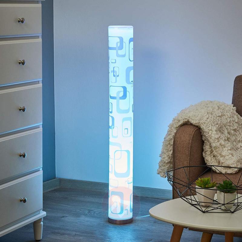 LED floor lamp Mirella with retro effect, GU10 RGB - Floor Lamps
