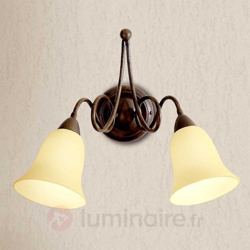 Applique rustique Michele à 2 lampes - Appliques rustiques