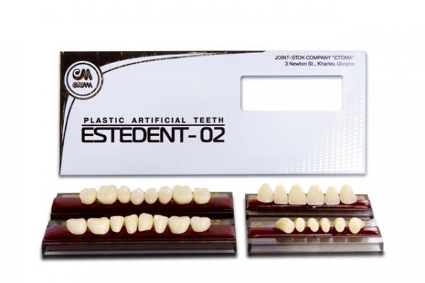 Artificial plastic teeth ESTEDENT-02 -