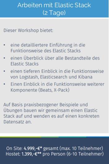 Schulung: Arbeiten mit Elastic Stack -